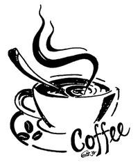 Kaffeetasse mit Schriftzug Coffee