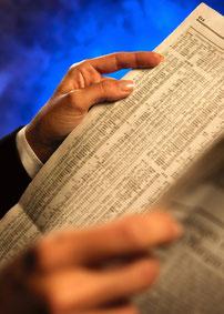 Buchhaltungsservice, Zeitung lesen