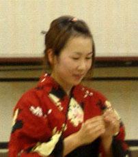 正妻「雅子」(北山佳奈) 初々しくて芯の強い女を力一杯演じます