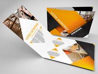 Plaquettes de communication deux volets  imprimés par RBS86, à Poitiers