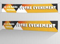suggestion d'affichage de banderoles imprimées par RBS86, à Poitiers