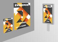 Présentation d'affiches 40x60 et 120x80  imprimées par RBS86, à Poitiers