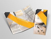 Dépliant trois volets  imprimés par RBS86, à Poitiers