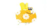 Biene Martha, das kuschelige Kuscheltier vom Kuschelwerk. Ideales Geschenk zur Geburt, aus 100% Vintage Frottee