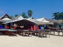 Bild: Fischrestaurants am Strand von Jimbaran - Bali