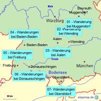 Bild: Wanderungen in Süddeutschland