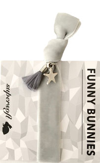 1 elastisches Samt Armband mit Anhänger Velvet Star gry