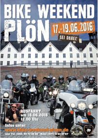 Plakat Bike Weekend Plön