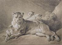Jean-Baptiste Huet, Lionne et ses petits, 1801-1802 © Albertina Museum
