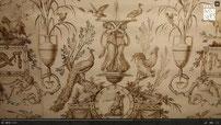 Projet de décor pour une toile de Jouy présenté au Musée Cognac-Jay / in vidéo paris_musée