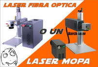 Cual es la diferencia entre una laser MOPA y una laser fibra optica?