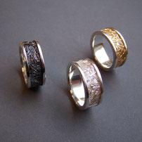 Exquisite Ringe im zierwerk