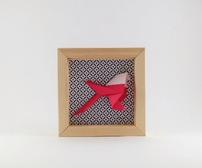 Cadre mural origami mésange cadeau naissance decoration chambre enfant