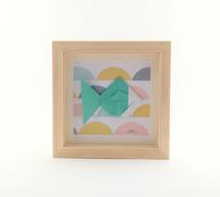 Cadre origami Poisson - Format 14x14cm - 25€