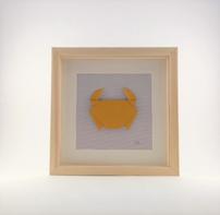 Cadre origami Crabe - Format 20x20cm - 34€