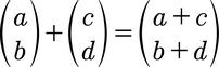 Formel für die Vektoraddition von 2D Vektoren