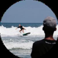 Surfen lernen Surfschule Bali Seminyak