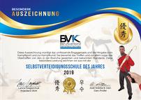 Auszeichnung Selbstverteidigungsschule des Jahres 2019 Marc Schulin Augsburg
