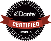 "Dante-Logo ""Certified Level 3"""
