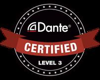 """Dante-Logo """"Certified Level 3"""""""