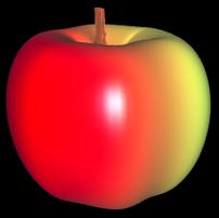 fertiger 3D Apfel aus Parameterflächen