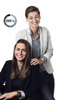 Versicherungsmaklerin 200% - Vordenker Aylin Schacht und Sophie Uteß