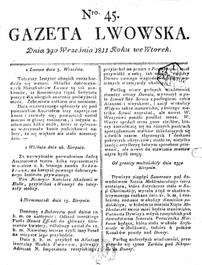 Gazeta Lwowska 1811 nr 45