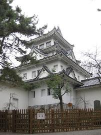 大垣城は平城。伝として1500年の築城