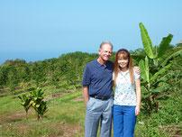 農園オーナーのMika & Kenny