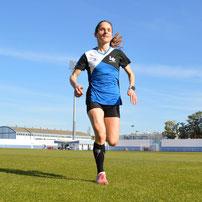 Trainingslager Monte Gordo: Rasendiagonalen im Leichtathletik-Stadion