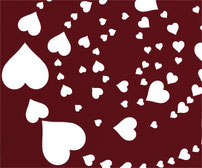 Hearts, Vinyl sticker wall art