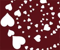 Hearts, Vinyl sticker wall art