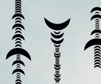 Crescents, Vinyl sticker wall art