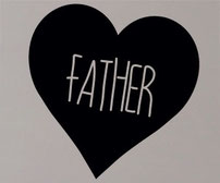 Father, Dad, Daddy and Papa love heart vinyl decal