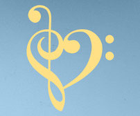 Clef Heart music symbols vinyl decal sticker