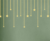 Hanging Stars Decals
