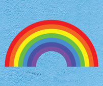 Rainbow printed vinyl wall art