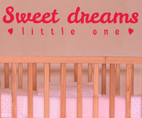 Sweet Dreams Little One vinyl sticker