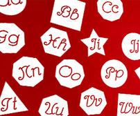 Kink Shape Alphabet, vinyl stickers