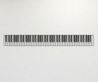 Vinyl wall art decal with an 88 Key Piano sticker