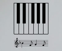 Piano Octave wall art sticker