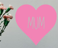 Mother, Mum, Mummy, Mama vinyl decal love hearts