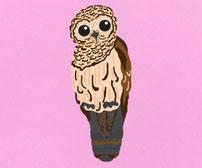 Owl Printed vinyl wall art