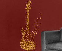 Fender Guitar of Notes vinyl decal