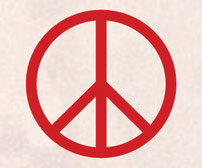 Thin and Skinny Peace sign vinyl