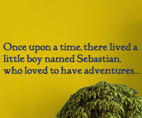 Personalised Adventure story vinyl wall art paragraph