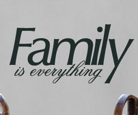 Family is Everything vinyl wall art sticker