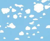 Clouds, vinyl decals