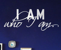 I am who I am. vinyl wall art