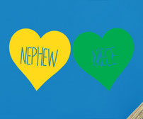 Niece & Nephew Love hearts vinyl decals
